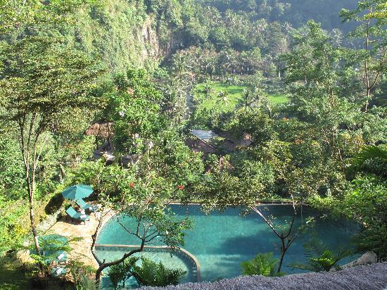 The Royal Pita Maha : Vue sur la vallée et la partie basse de l'hôtel