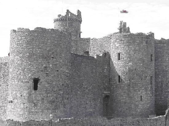 Castle Cottage Restaurant with Rooms: Harlech Castle - opposite Castle Cottage