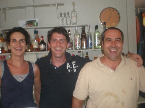 Lefka Apartments: Anna and Andreas with Hamish