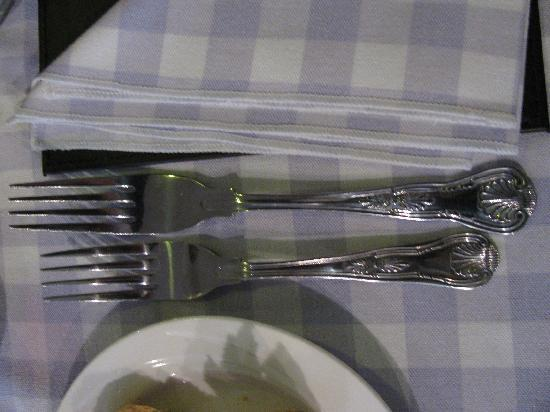 The Argyll Inn : beautiful spoon and fork