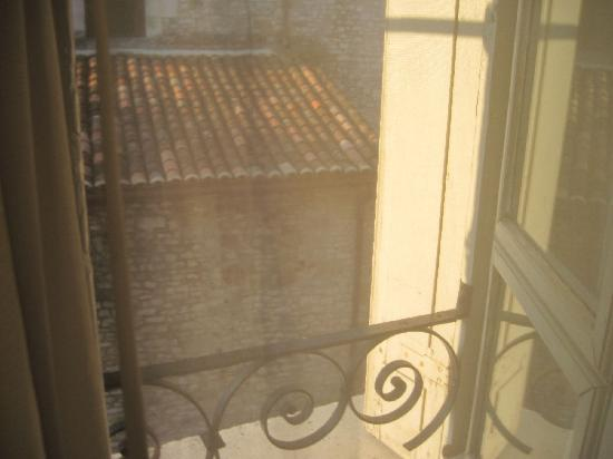 Grand Hotel De Souillac: view from 305 - across the alley to former church, now tourist office