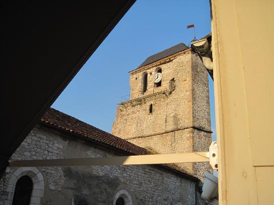 Grand Hotel De Souillac: looking tight from 305 - belfry of former church