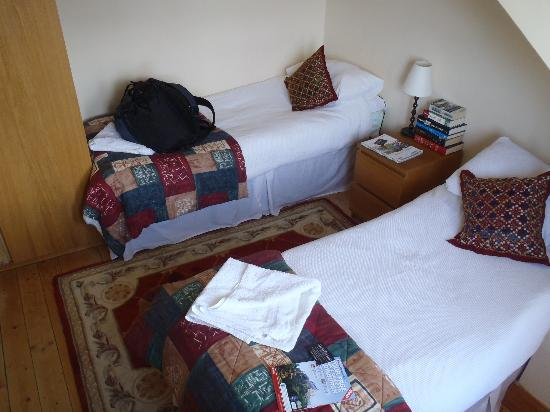 Adam Drysdale House: twin beds with fluffy duvets