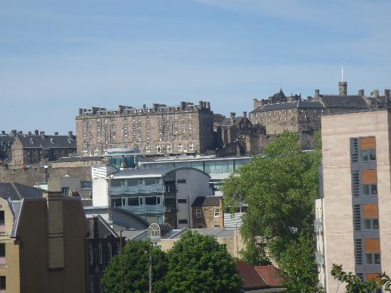 Adam Drysdale House: Edinburgh Castle in distance from 3rd fl room