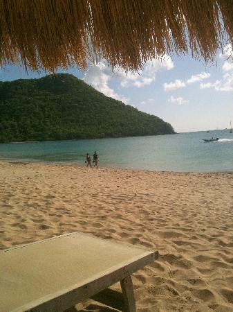 Royal St Lucia Resort and Spa: nice beach
