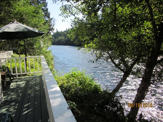 Holiday Farm Resort : View of river from deck