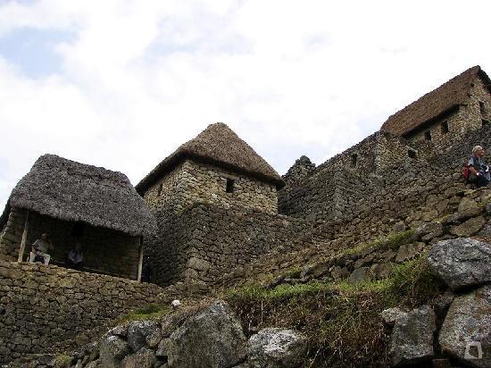 Machu Picchu, Pérou : Casa de los Guardianes
