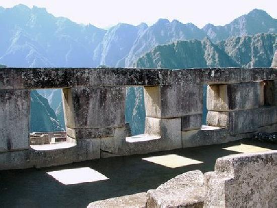 Machu Picchu, Pérou : El Templo de las Tres Ventanas