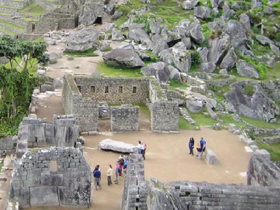 Machu Picchu, Pérou : La plaza Sagrada