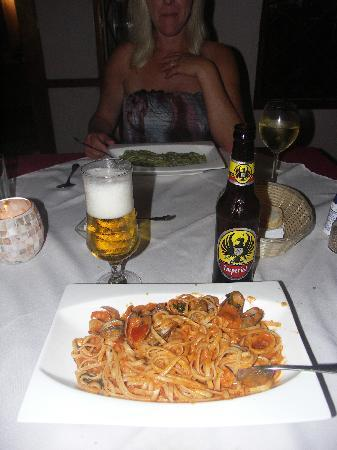 Hotel Casa Romantica: dinner ( first night )