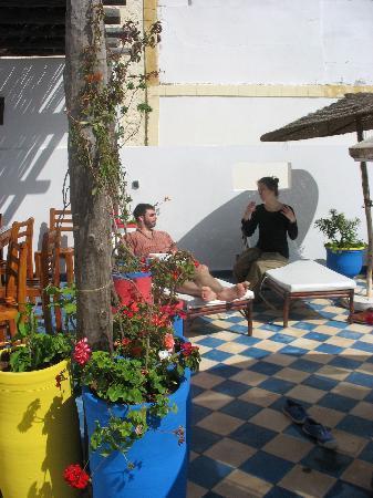Riad Zelaka: la terrasse