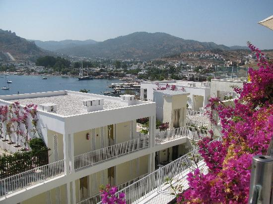 Baia Bodrum Hotel: Lower rooms with view of Gundogan