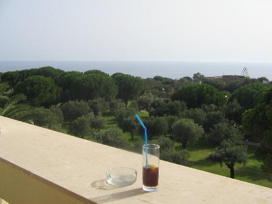 Club Lipari Hotel : vue balcon chambre