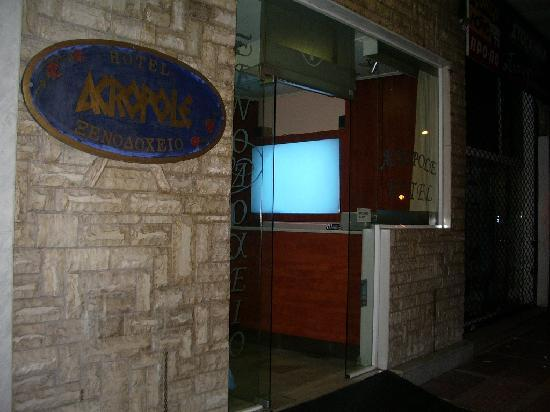 Acropole Hotel : The entrance to the worst hotel I've ever stayed in.