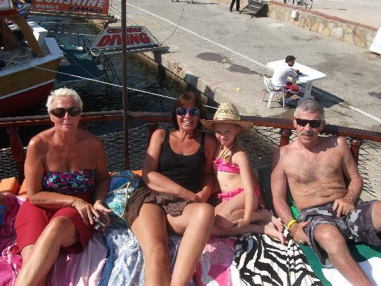 Club Aegean: English boat trip