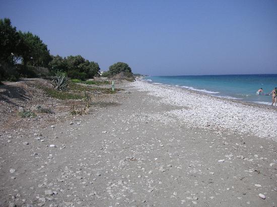 D'Andrea Mare Beach Resort: der sogenannte Sand-Kieselstrand
