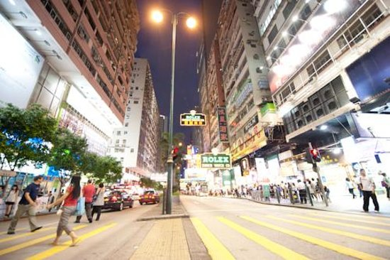 Hello Inn (Hong Kong): night scenery of Nathon Road