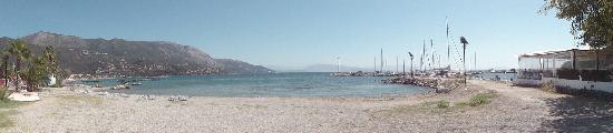 Mayor Capo Di Corfu: Vue depuis la plage devant l'hôtel