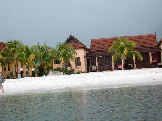 Buccament Bay Resort: Photo of our beach front Villa, taken while kiaking on my own for the first time.
