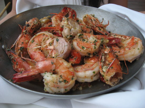 Chez Gado Gado : Shrimp was delicious but my wife didn't like the fact that the heads were still on!