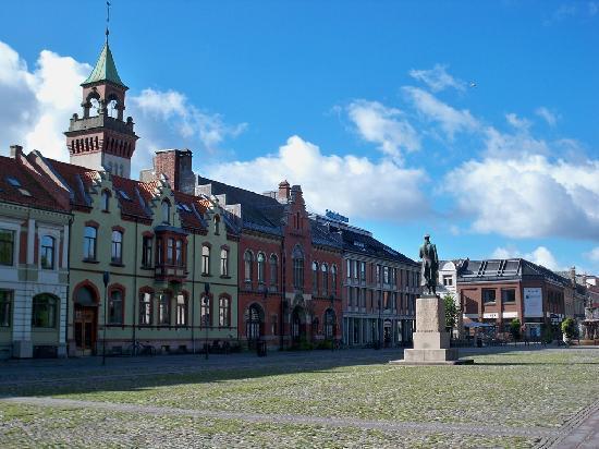 Kristiansand, Noruega: Marktplatz in der Innenstadt