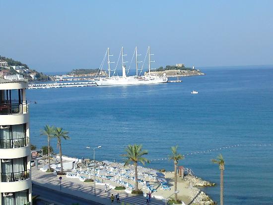 Palm Hotel: vue de notre chambre