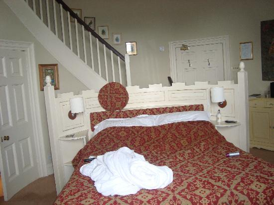 Swinton Park: Large bedroom on middle floor of Turret Suite
