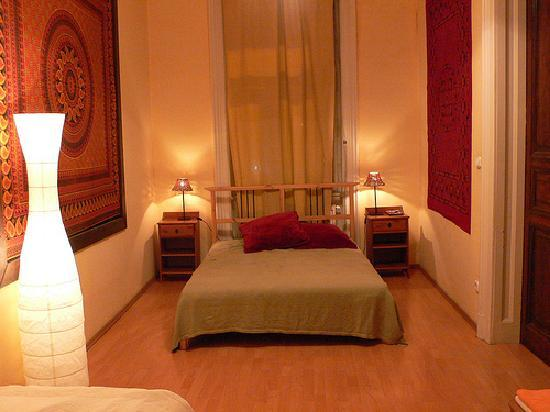 Nightingale Ensuite Hostel: 1st floor double bedroom at Mandragora Hostel, Budapest, by Heather on her travels