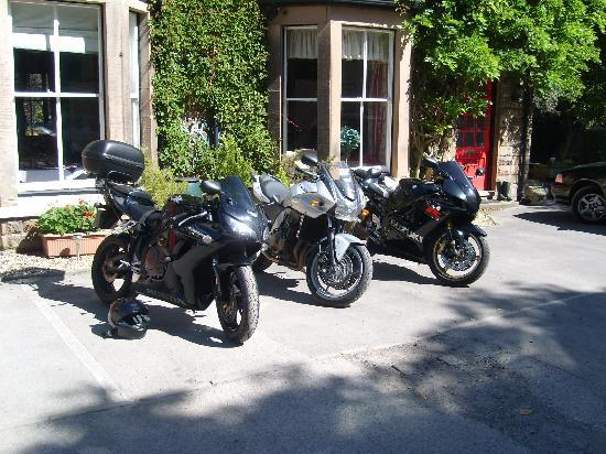 Riverbank Guest House: our bikes outside