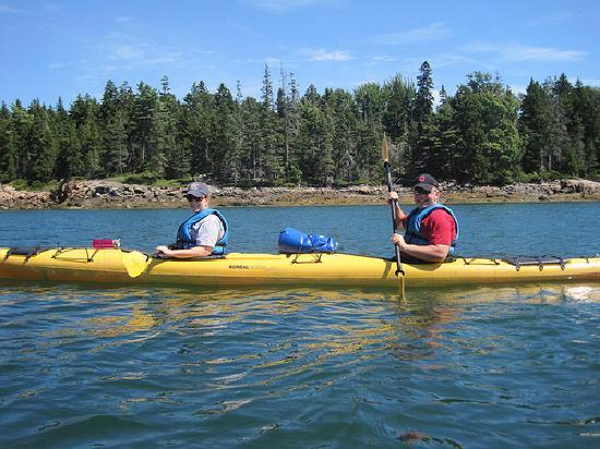 National Park Sea Kayak Tours: my husband and I sea kayaking for the first time
