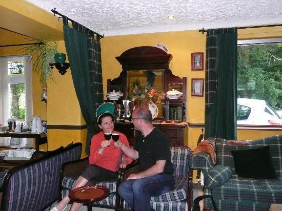 Arch House: Sheers, an Irish coffee in the lounge bar