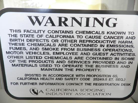 Rose Garden Inn: Warning