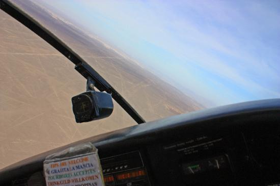 Flight banking over Nazca Lines