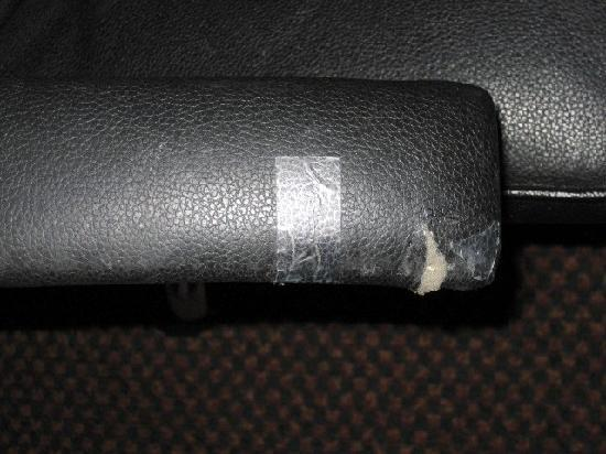 Econo Lodge: Arm of desk chair.