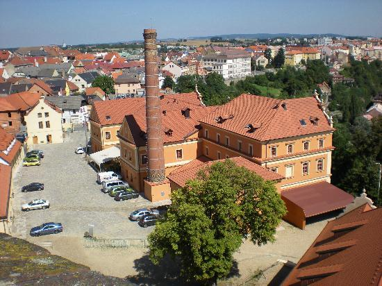 Wellness & Congress Hotel Dvorak Tabor: hotel view from the old tower