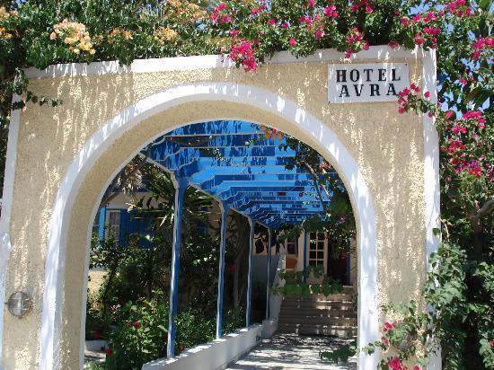 Avra Hotel: Entrance to Hotel Avra