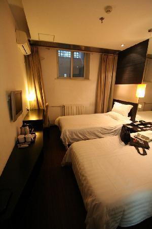"""Orange Hotel (Beijing Guanyuanqiao): Bedroom (""""Sun room"""")"""