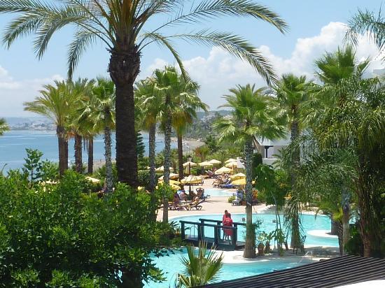 H10 Estepona Palace: Pool und Gartenblick