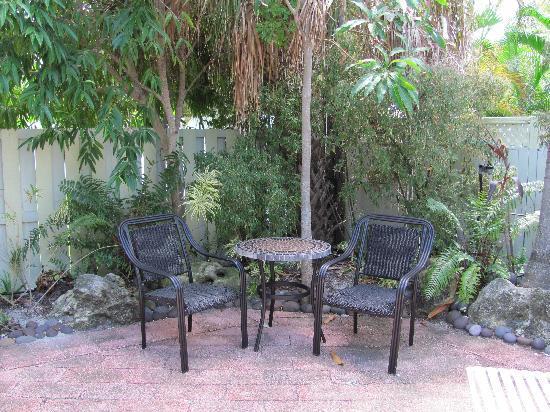 An Island Getaway at Palm Tree Villas: Patio