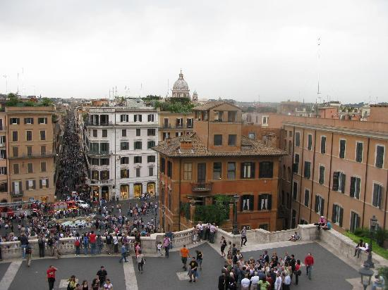 View From Top Of Spanish Steps Picture Of The View At The Spanish