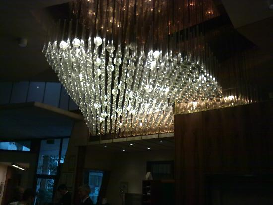 Jesi, อิตาลี: A cell phone picture of the reception.  Look at the light fixture: it's supposed to evocate wate