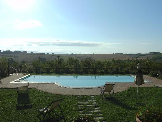 Agriturismo Pratovalle: amazing landscape , view from our apartment