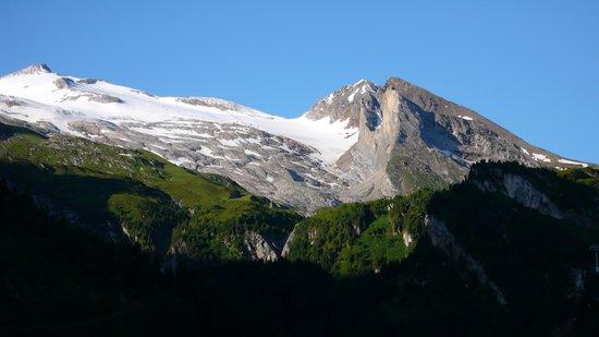 Hotel Alpenhof Hintertux: der Gletscher von unserem Balkon aus gesehen