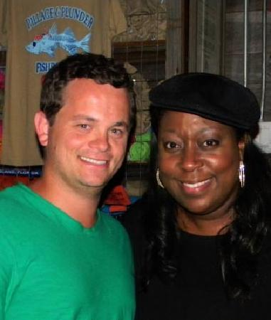 Loni Love performing at Captain Brien's Off the Hook Comedy Club in June
