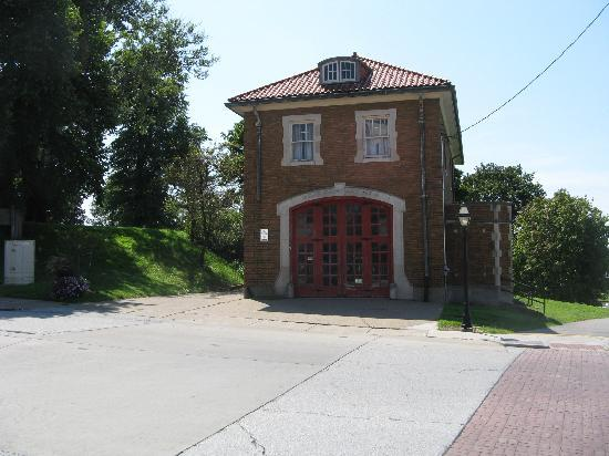 Village of East Davenport: vintage firehouse