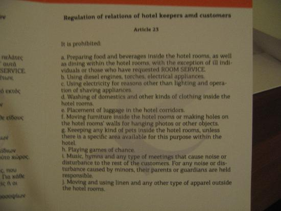 funny hotel rules - Picture of Eden Beach Resort ... Funny Hotel Reviews