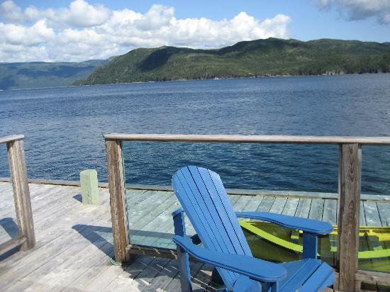 Seaside Suites Gros Morne Newfoundland: view from our deck