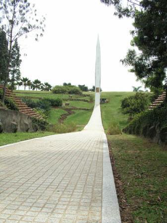 "Putrajaya Botanical Garden: Sun Garden with extraordinary ""sundial""."