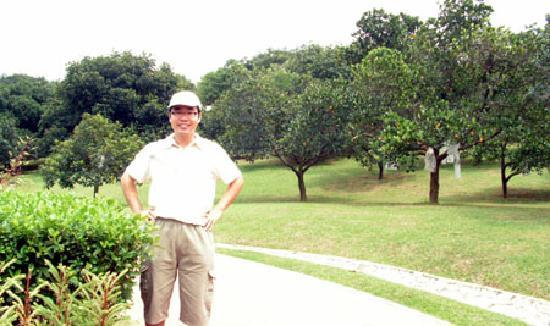 Agriculture Heritage Park: Photo taken in front of jackfruit orchard.