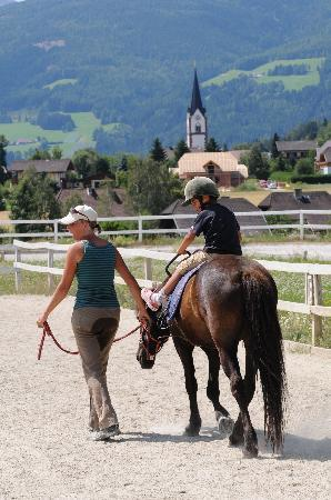 St Martin Chalets: horse riding on your doorstep